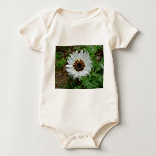White daisy baby bodysuit