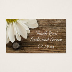 White Daisy Barn Wood Country Wedding Favor Tags at Zazzle