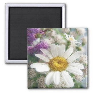 White Daisy Bouquet Magnet