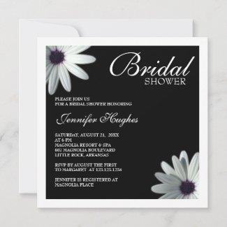 White Daisy Bridal Shower Invitation