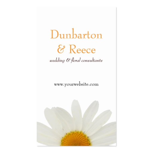 White Daisy Business Card