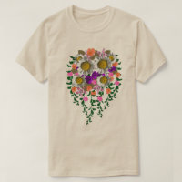 White Daisy by Delynn Addams on Tan T-Shirt