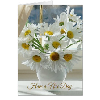White daisy, camomile Have a Nice Day Card