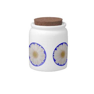 White daisy candy jar anti stress home decor