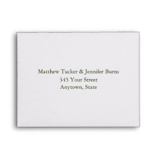White Daisy Custom Envelope with Address
