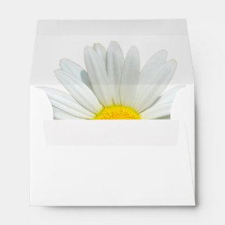 White Daisy Customizable Wedding Envelopes