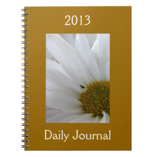 White Daisy-Daily Journal-Customize Year Note Books