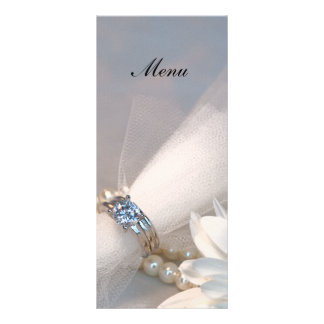 White Daisy Elegance Wedding Menu