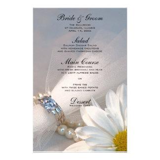 White Daisy Elegance Wedding Menu