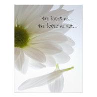 White Daisy Engagement Announcement