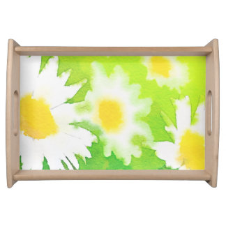 White Daisy Floral Tray