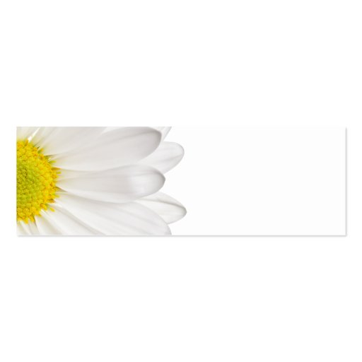 White Daisy Flower Background Customized Daisies Double-Sided Mini Business Cards (Pack Of 20)