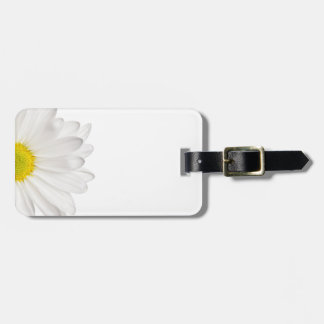 White Daisy Flower Background Customized Daisies Bag Tag