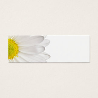 White Daisy Flower Background Customized Daisies Mini Business Card