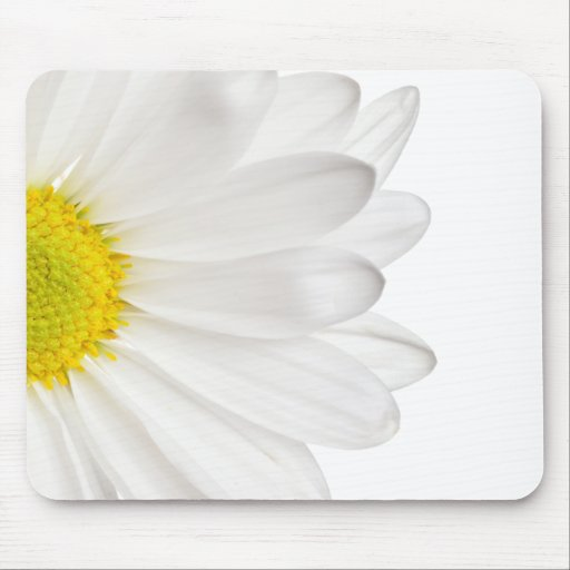 White Daisy Flower Background Customized Daisies Mouse Pad