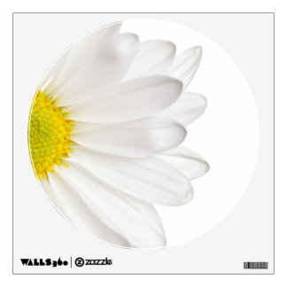 White Daisy Flower Background Customized Daisies Wall Decal
