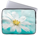 White Daisy Flower Blue Water Pond Tropical Laptop Sleeves
