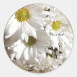 White Daisy Flower Custom Envelope Seals Stickers