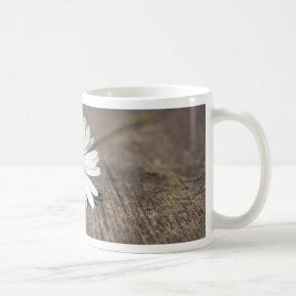 White Daisy Flower Mugs