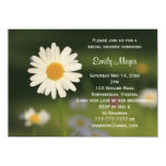 White Daisy Flower Wedding Bridal Shower 4.5x6.25 Paper Invitation Card