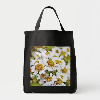 White Daisy Flowers - Painting Art Bags