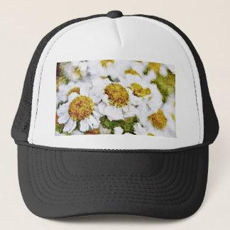White Daisy Flowers - Painting Art Hat