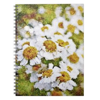 White Daisy Flowers - Painting Art Notebook