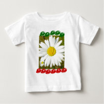 White Daisy Happy Easter Products Baby T-Shirt