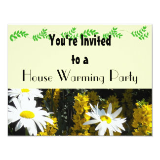 White Daisy House Warming Party Card