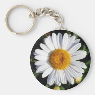 white daisy key chains