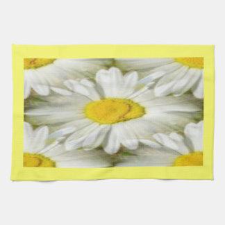 White Daisy Mirror Image American MoJo Kitchen Tow Towel