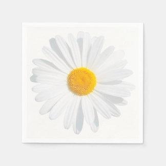 white daisy napkin