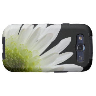 White Daisy on Black Samsung Galaxy S3 Vibe Case Galaxy SIII Covers