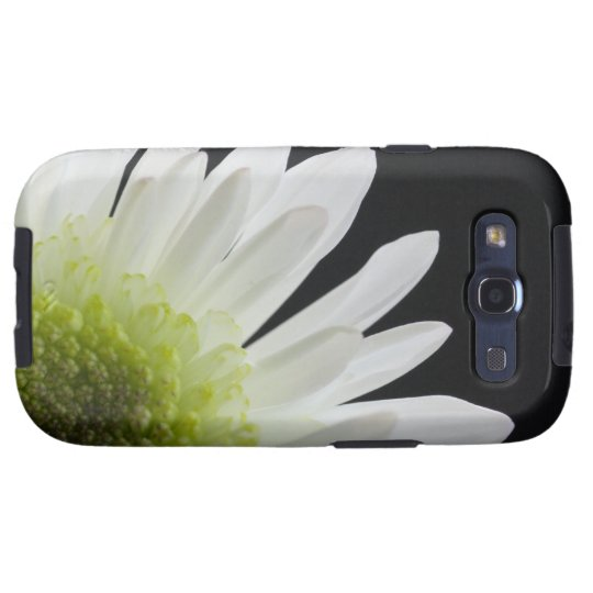 White Daisy on Black Samsung Galaxy S3 Vibe Case