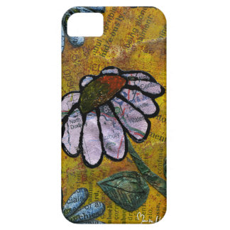 White Daisy on Yellow Background - Collage iPhone SE/5/5s Case