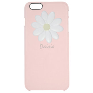 White Daisy Pale Pink iPhone 6/6s Plus Case