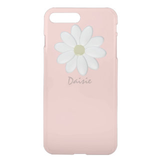 White Daisy Pale Pink iPhone 8 Plus/7 Plus Case