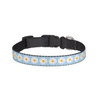 white daisy pattern pet collar