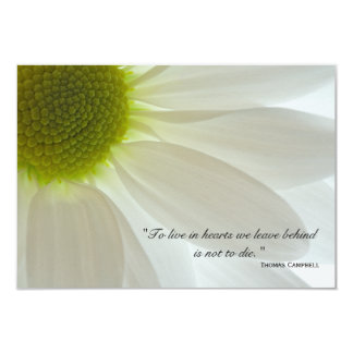 White Daisy Petals Thank You for Your Sympathy Personalized Invite