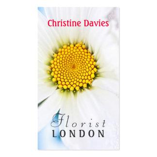 White daisy photograhy, florist business card