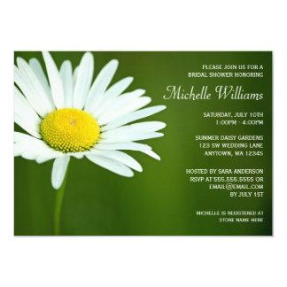 "White Daisy Summer Bridal Shower Invitations 5"" X 7"" Invitation Card"