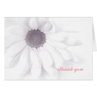 White daisy, Thank you card