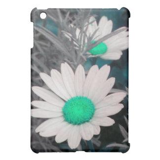 White Daisy (w Green) iPad case