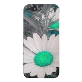 White Daisy (w/ green) iPhone 4 case