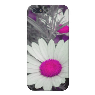 White Daisy (w/ pink) iPhone 4 case