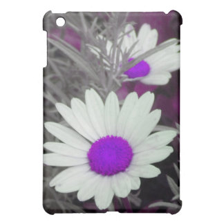 White Daisy (w Purple) iPad case