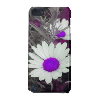 White Daisy (w Purple) iPod Touch case