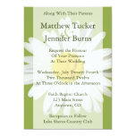 White Daisy Wedding Invitation Announcement Personalized Invites