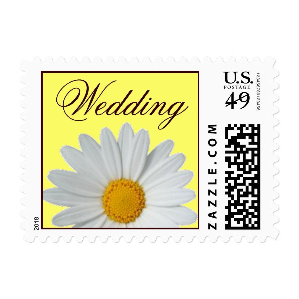 White Daisy Wedding Postage