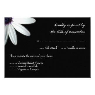 White Daisy Wedding Response Personalized Invite